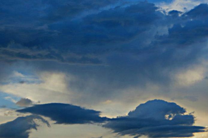 on a cloud
