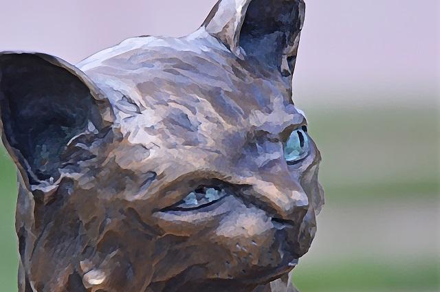light blue eyes sculpture